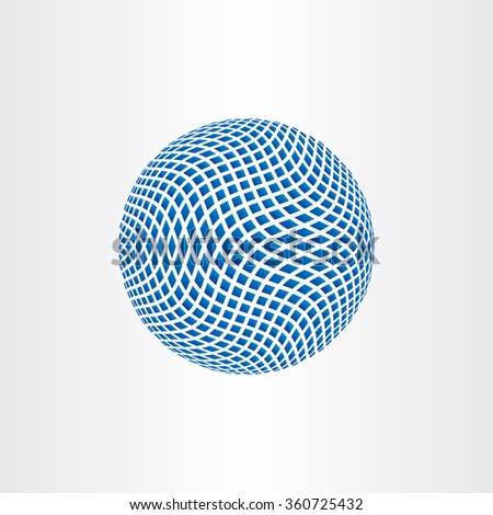 dotted halftone globe earth icon vector element