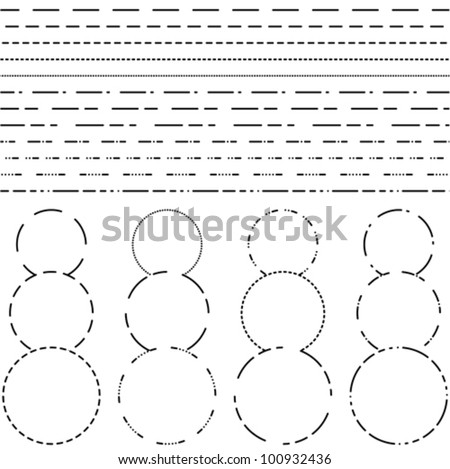 Dotted line for cutting - stock vector