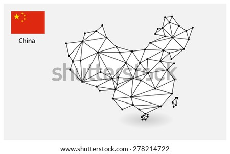 Dotted map of China for your design concept Illustration  - stock vector