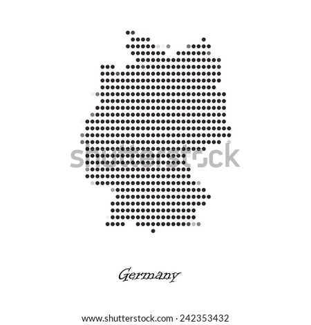 Dotted map of Germany for your design, concept Illustration. - stock vector