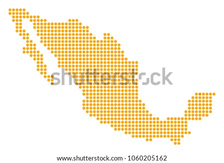 dotted mexico map vector collage of mexico map designed of small circles vector geographic