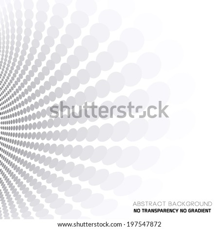 Dotted perspective lines, abstract gray & white background - stock vector