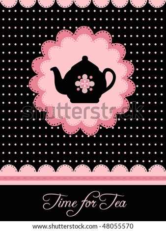 dotted pottery design - stock vector