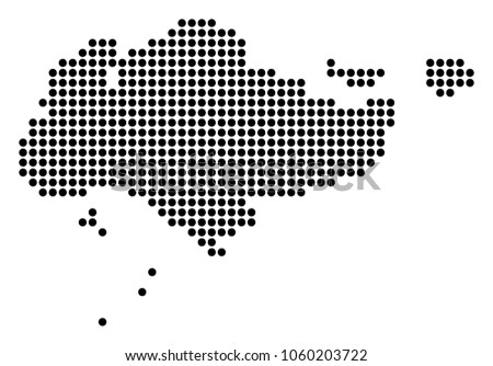 Dotted Singapore Map Vector Collage Singapore Stock Vector ...