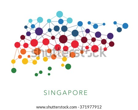 dotted texture Singapore vector background  - stock vector
