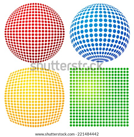 Dotted vector - stock vector