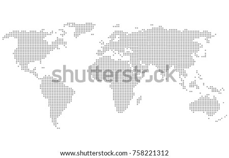 Dotted world map stock vector hd royalty free 758221312 shutterstock dotted world map gumiabroncs Image collections