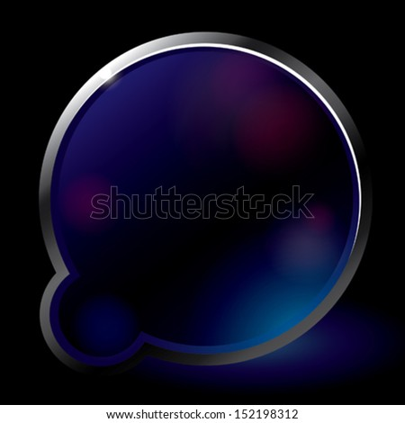 double abstract lens - stock vector