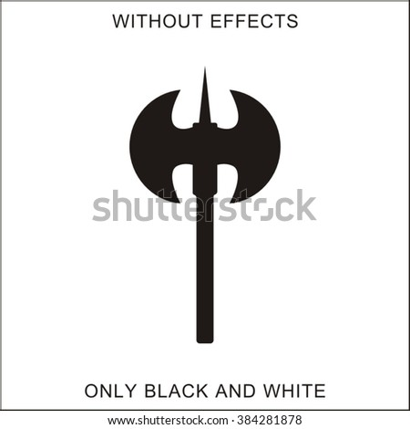 Double Axe Silhouette On White Stock Vector Hd Royalty Free