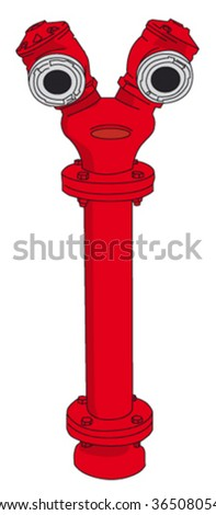 double Fire hydrant - stock vector