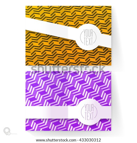 Double Pages A4 / A3 Decorative Mock Up Pages for Your Colorful Advertisement - stock vector