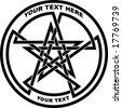 double pentagram - tattoo, t-shirt design - stock vector