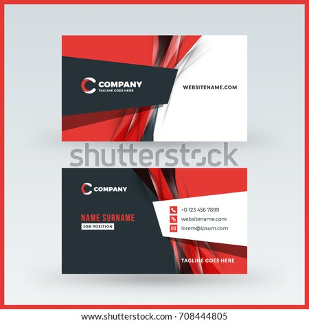 Doublesided horizontal business card template vector stock vector doublesided horizontal business card template vector stock vector 708444805 shutterstock colourmoves