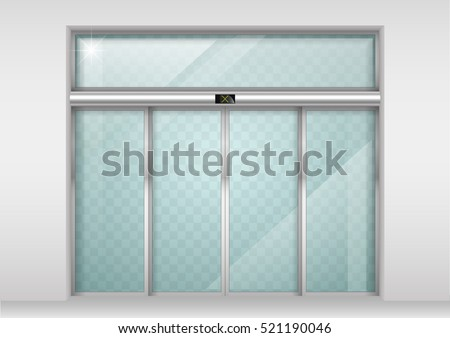 Double Sliding Doors sliding door stock images, royalty-free images & vectors