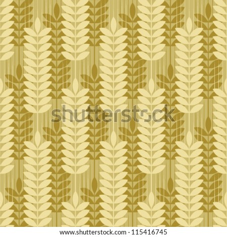 double wheat seamless pattern