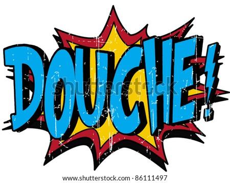 douche - stock vector
