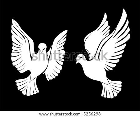 dove - stock vector