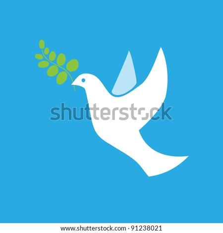 Dove of Peace Vector - stock vector