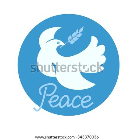 Dove of Peace. Vector Illustration. - stock vector