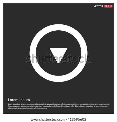Down arrow icon. Download arrow. - stock vector