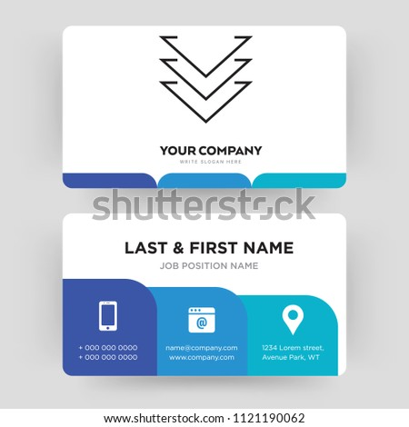 Down chevron business card design template stock vector 1121190062 down chevron business card design template visiting for your company identity card vector colourmoves