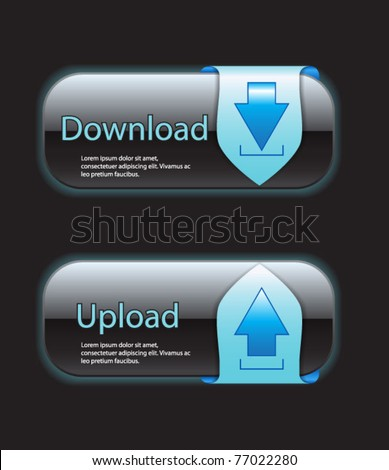 Download and upload buttons-vector