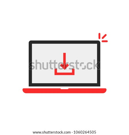 download arrow red laptop on white stock vector 1060264505 rh shutterstock com
