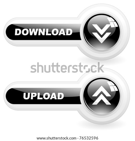 Download button. Vector illustration. - stock vector