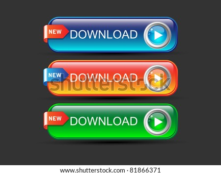 Download buttons set-Vector