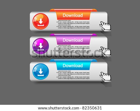 Download buttons set-Vector - stock vector