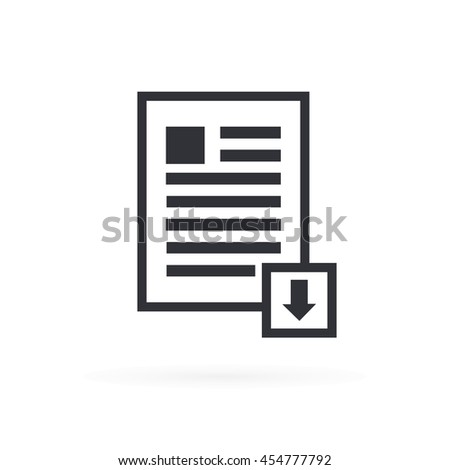 Download Document Icon - stock vector