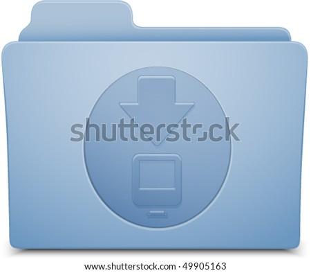 download folder - stock vector