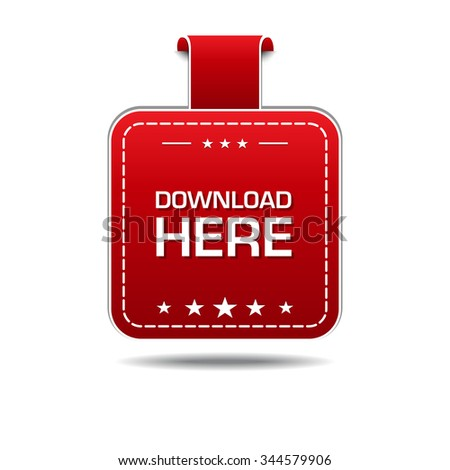 Download Here Red Vector Icon Design