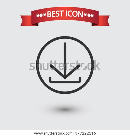 Download icon vector, download icon eps10, download icon picture, download icon flat design, download icon, download web icon, download icon art, download icon drawing, download icon - stock vector