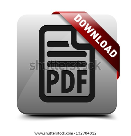 Download PDF button - stock vector
