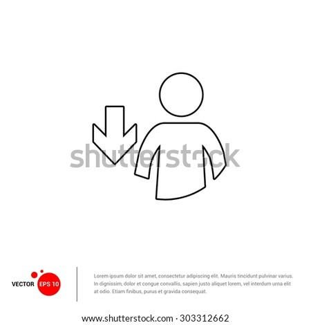 Download user data icon - Vector Illustration - stock vector