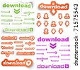 Download. Vector sticker for design. Great collection. - stock vector