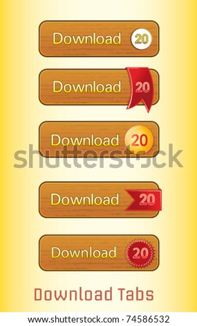 download website tab vector - stock vector