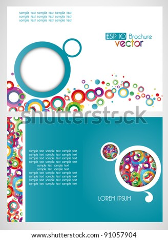 draft of the brochure, vector background - stock vector