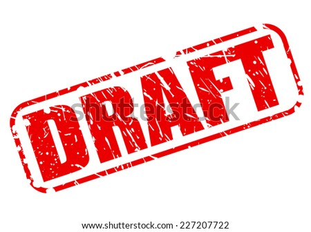 Draft red stamp text on white - stock vector