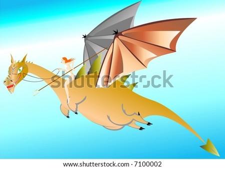 Dragon - stock vector