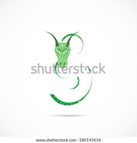 Dragon Abstract Illustration - stock vector