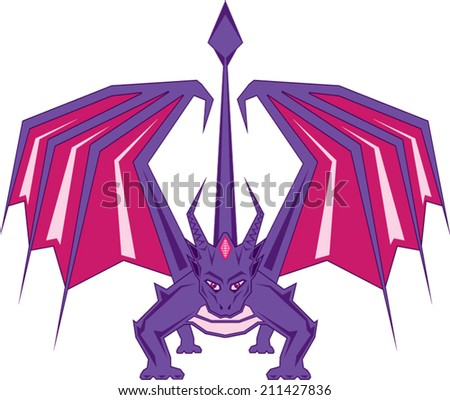 Dragon Front - stock vector
