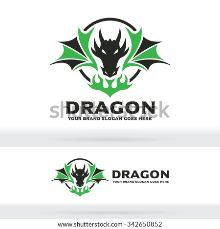 Dragon Logo, Dragon Sign, Dragon Identity - stock vector