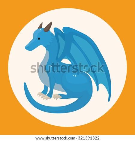 dragon theme elements - stock vector