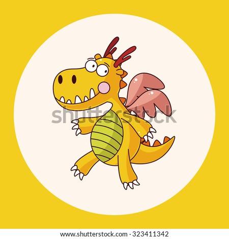 dragon theme elements vector,eps - stock vector