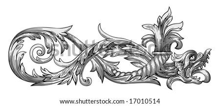 dragon vector - stock vector