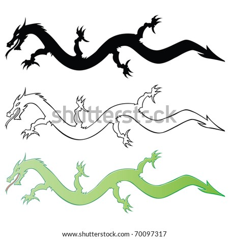 dragon vector set - stock vector