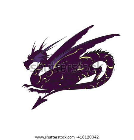 Dragon vector, the game character, winged
