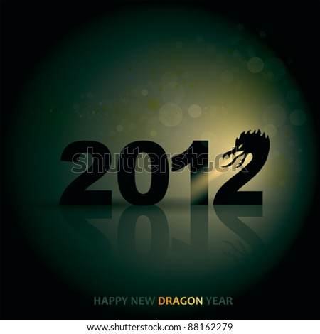 DRAGON YEAR 2012 / Happy New Year greeting card